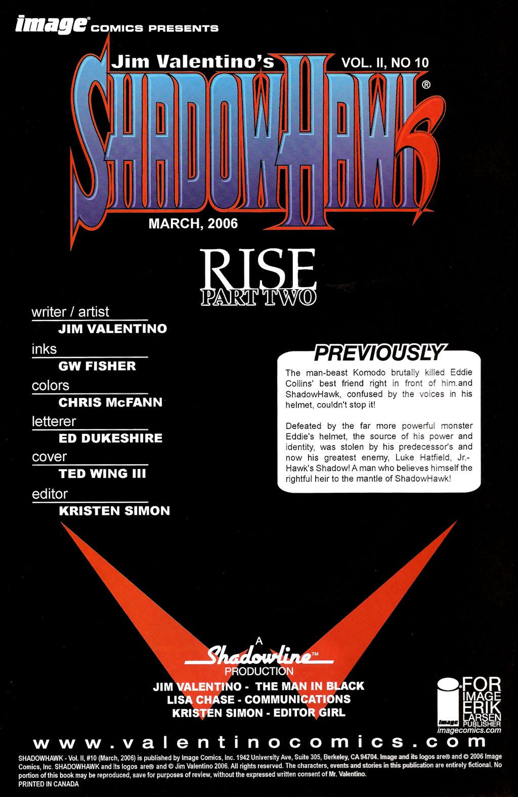 Read online ShadowHawk (2005) comic -  Issue #10 - 2