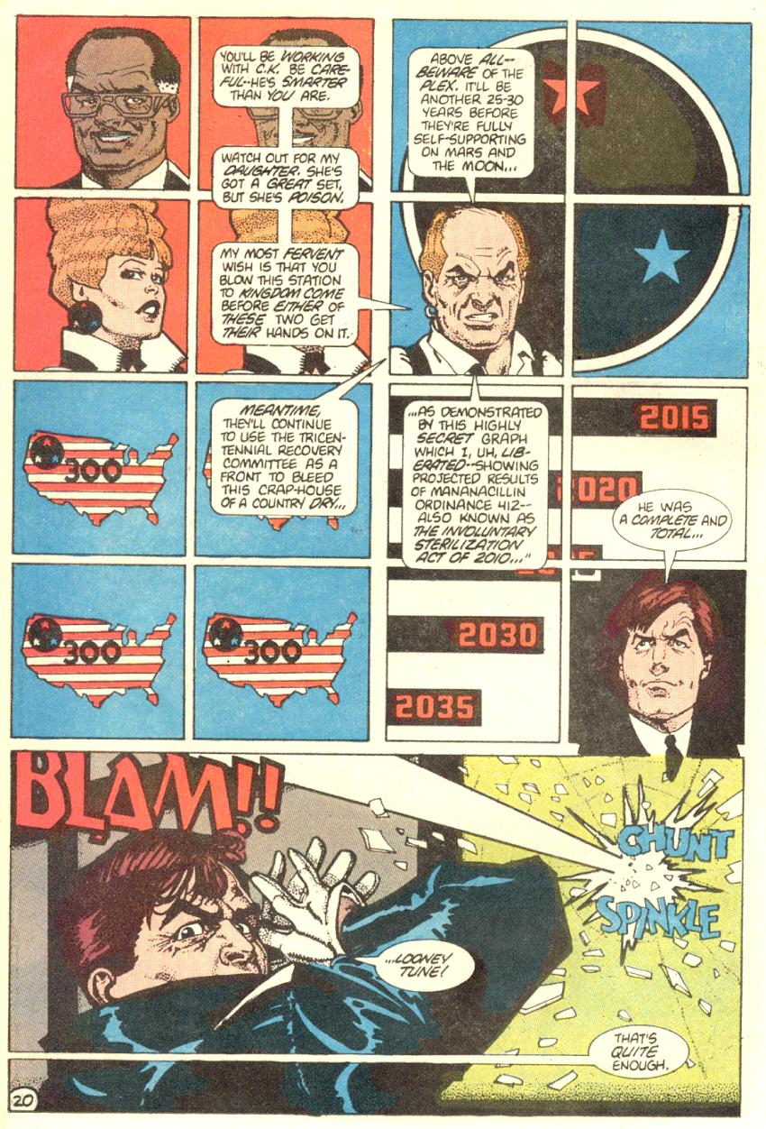 Read online American Flagg! comic -  Issue #3 - 21