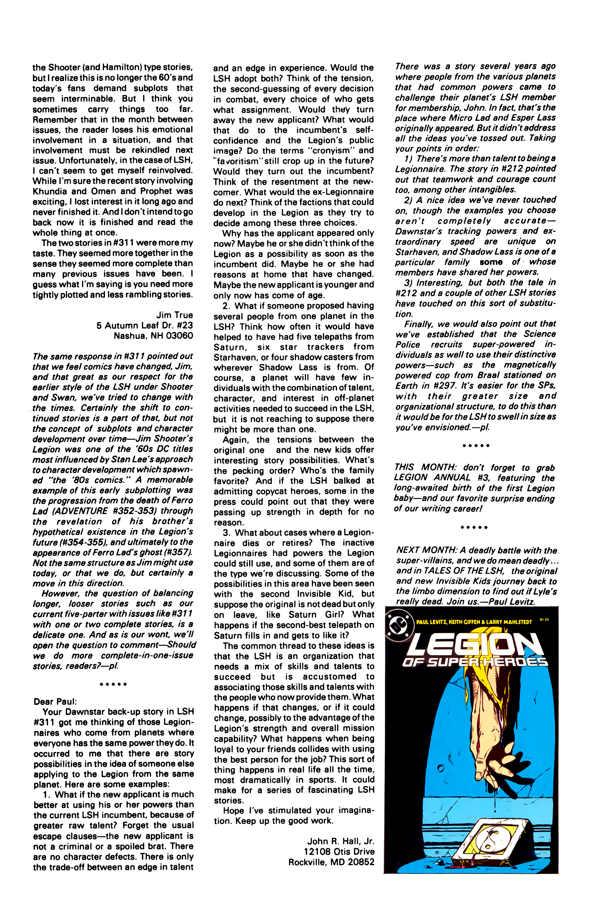Legion of Super-Heroes (1984) 3 Page 26