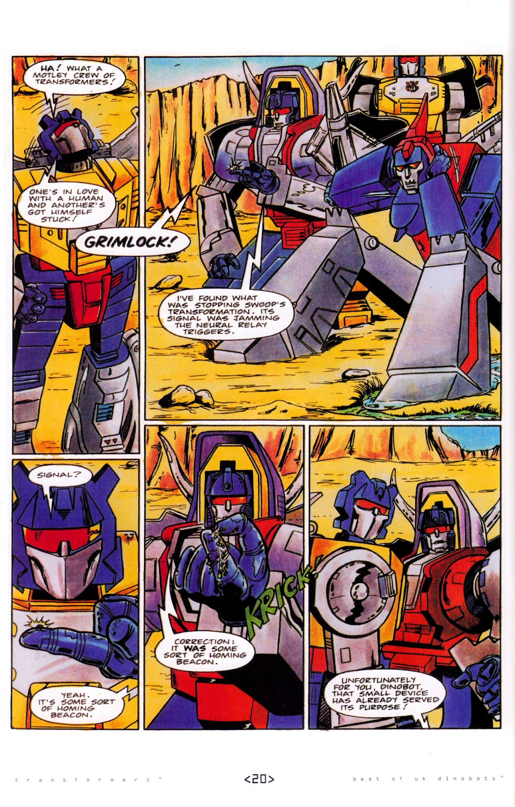 Read online The Transformers: Best of UK: Dinobots comic -  Issue #5 - 22