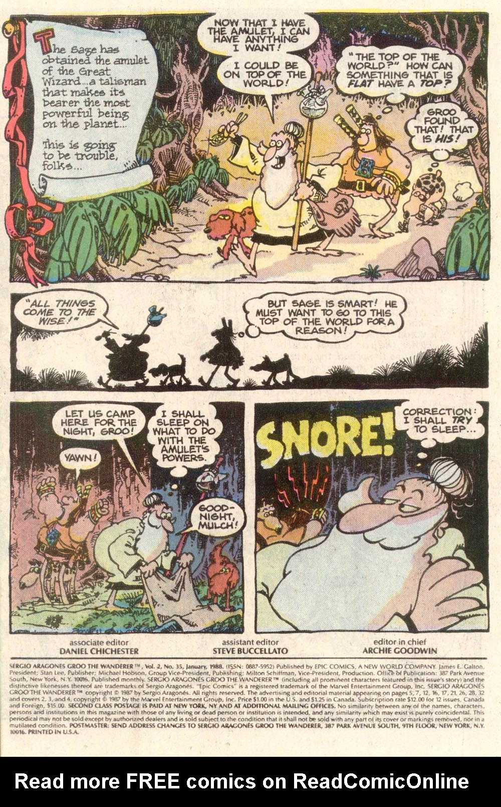 Read online Sergio Aragonés Groo the Wanderer comic -  Issue #35 - 2