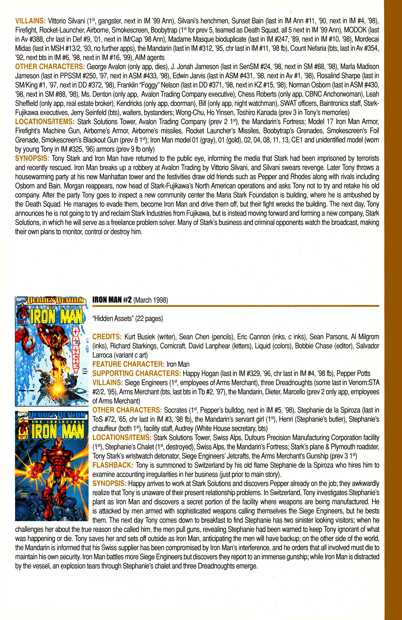 Read online Official Index to the Marvel Universe comic -  Issue #10 - 27