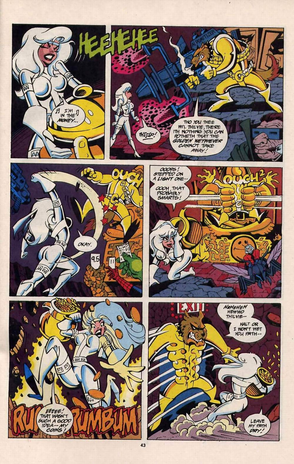 Read online Silver Sable and the Wild Pack comic -  Issue #25 - 36
