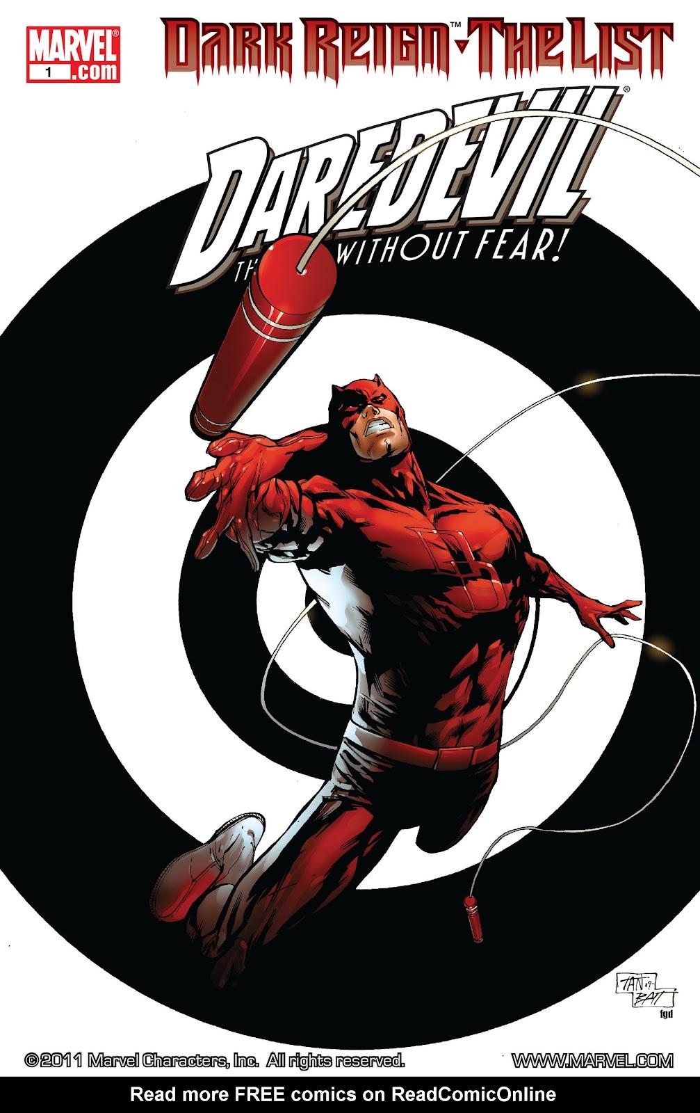 Dark Reign: The List - Daredevil issue Full - Page 1