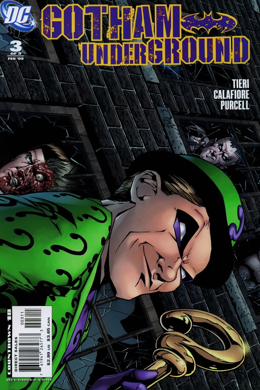 Gotham Underground issue 3 - Page 1