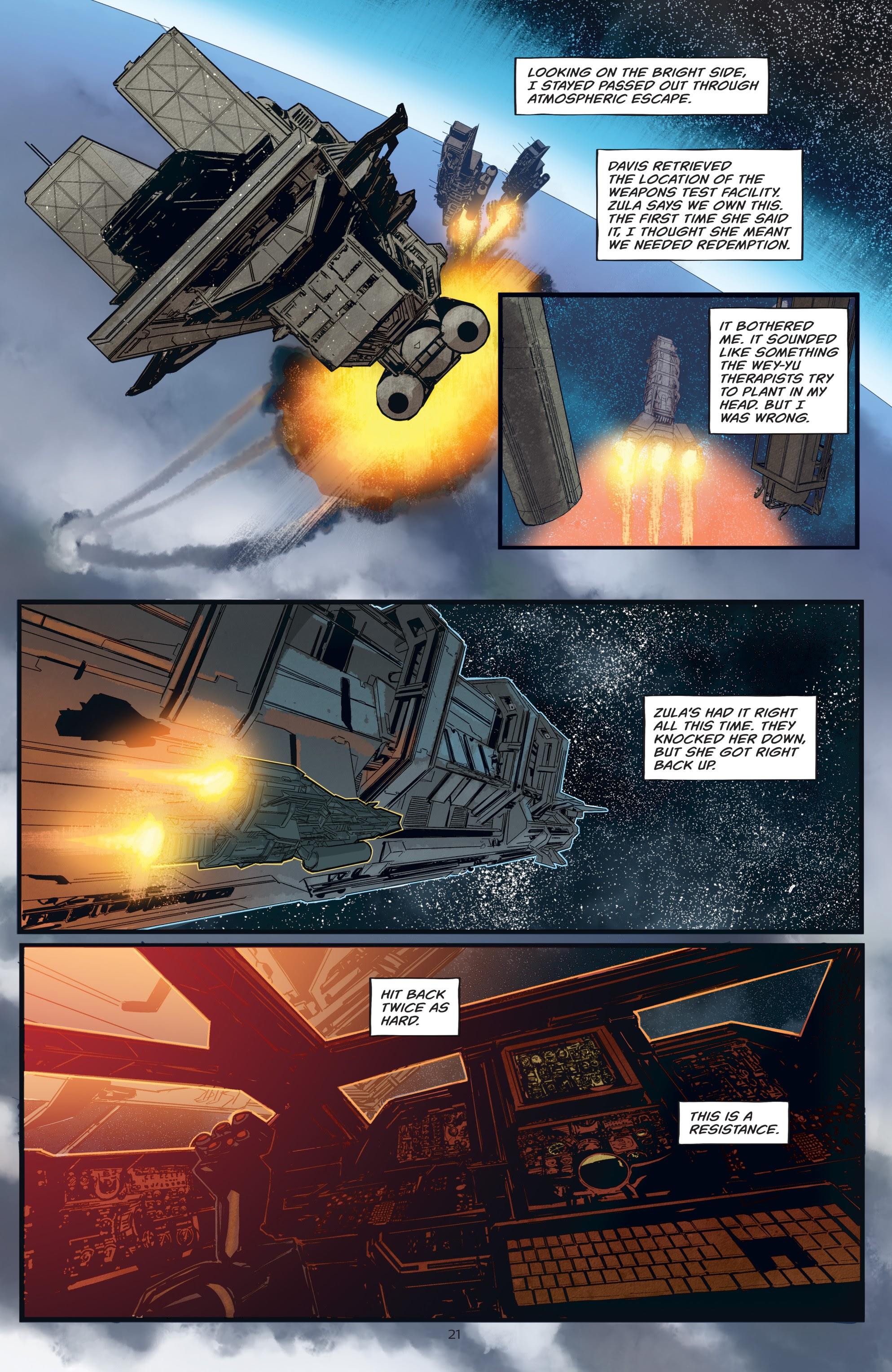 Read online Aliens: Resistance comic -  Issue # _TPB - 21