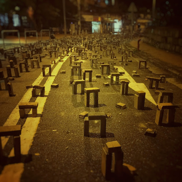Hong Kong, Street, Road Blocks, 香港, 路障, protest