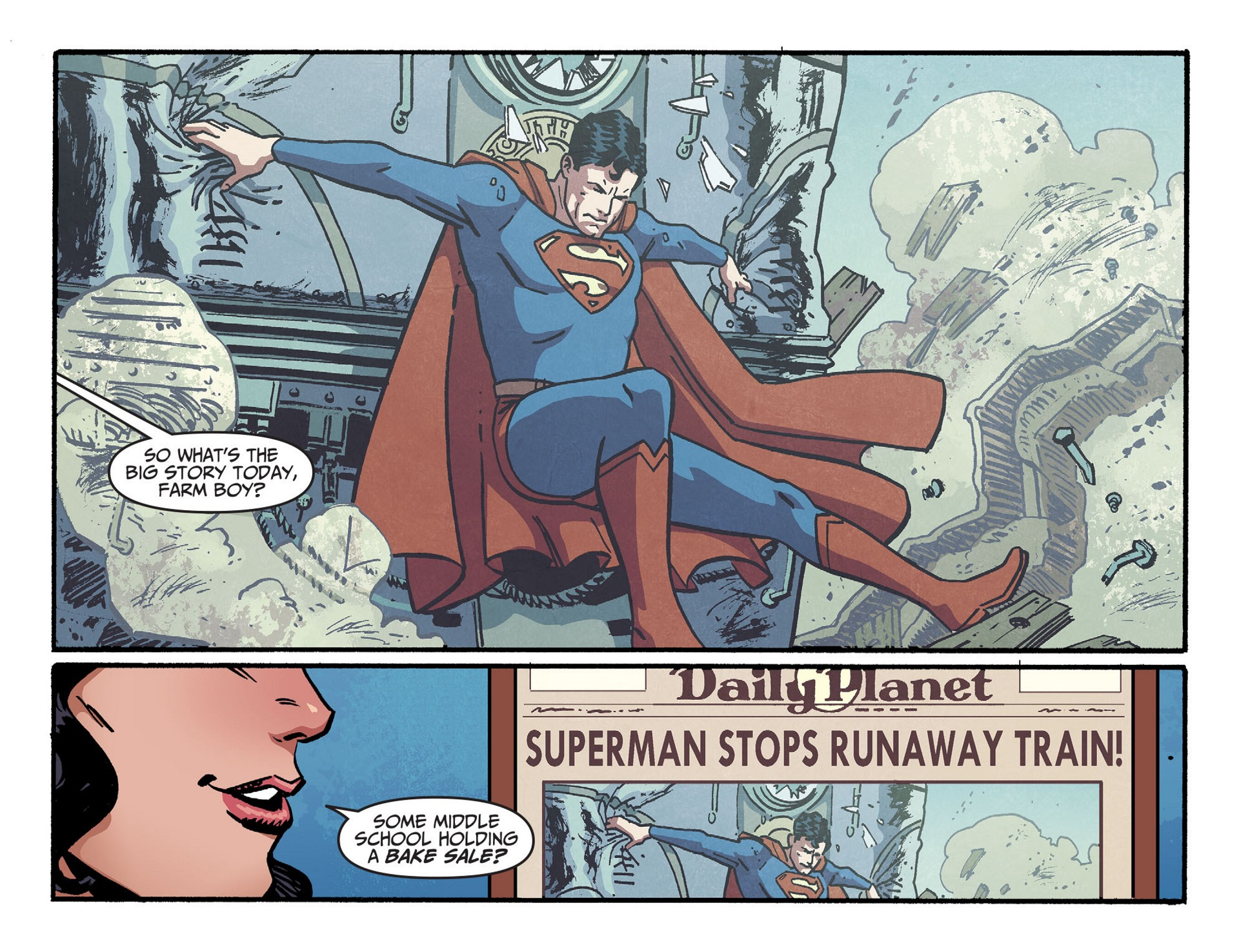 Read online Adventures of Superman [I] comic -  Issue #43 - 3