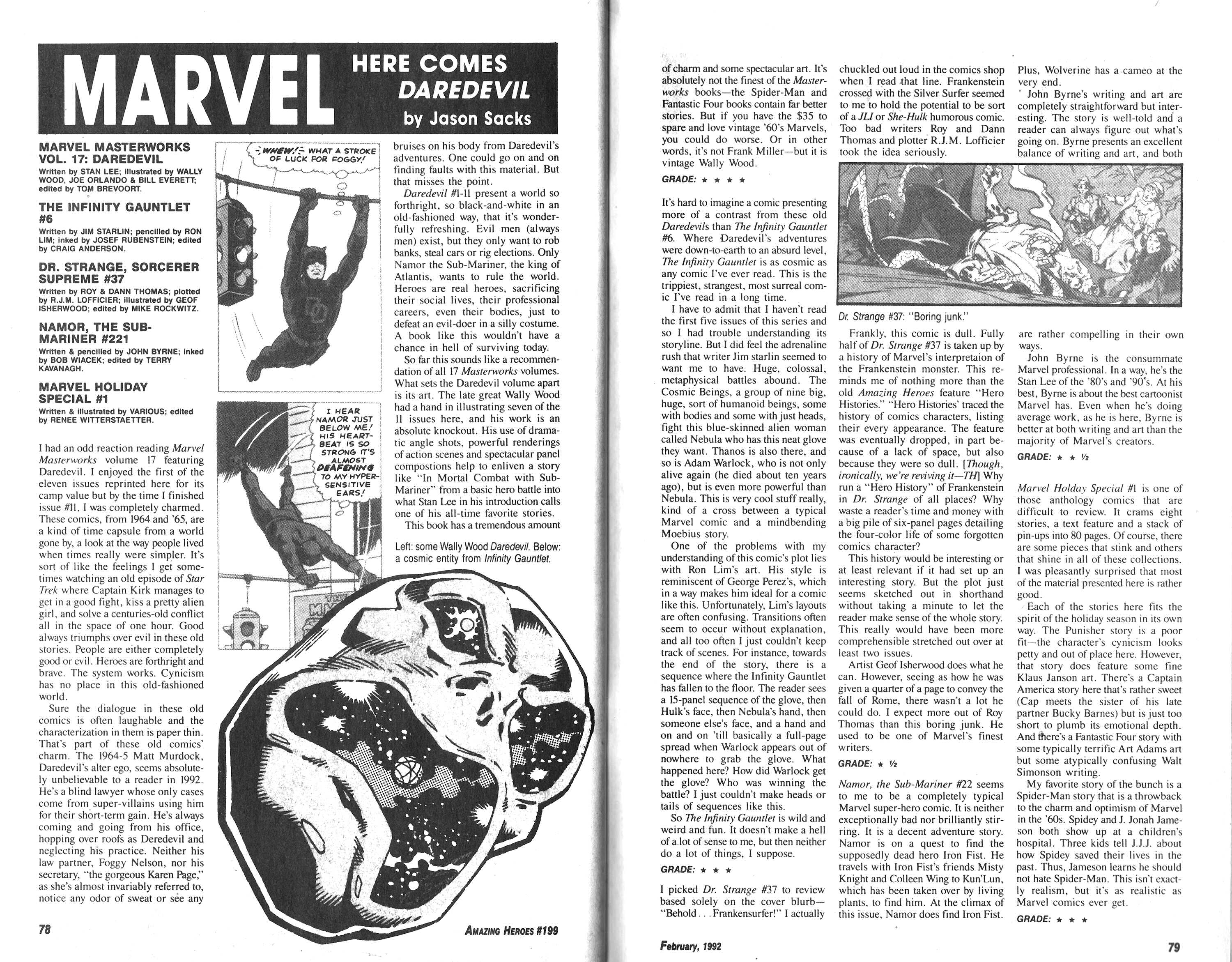 Read online Amazing Heroes comic -  Issue #199 - 40