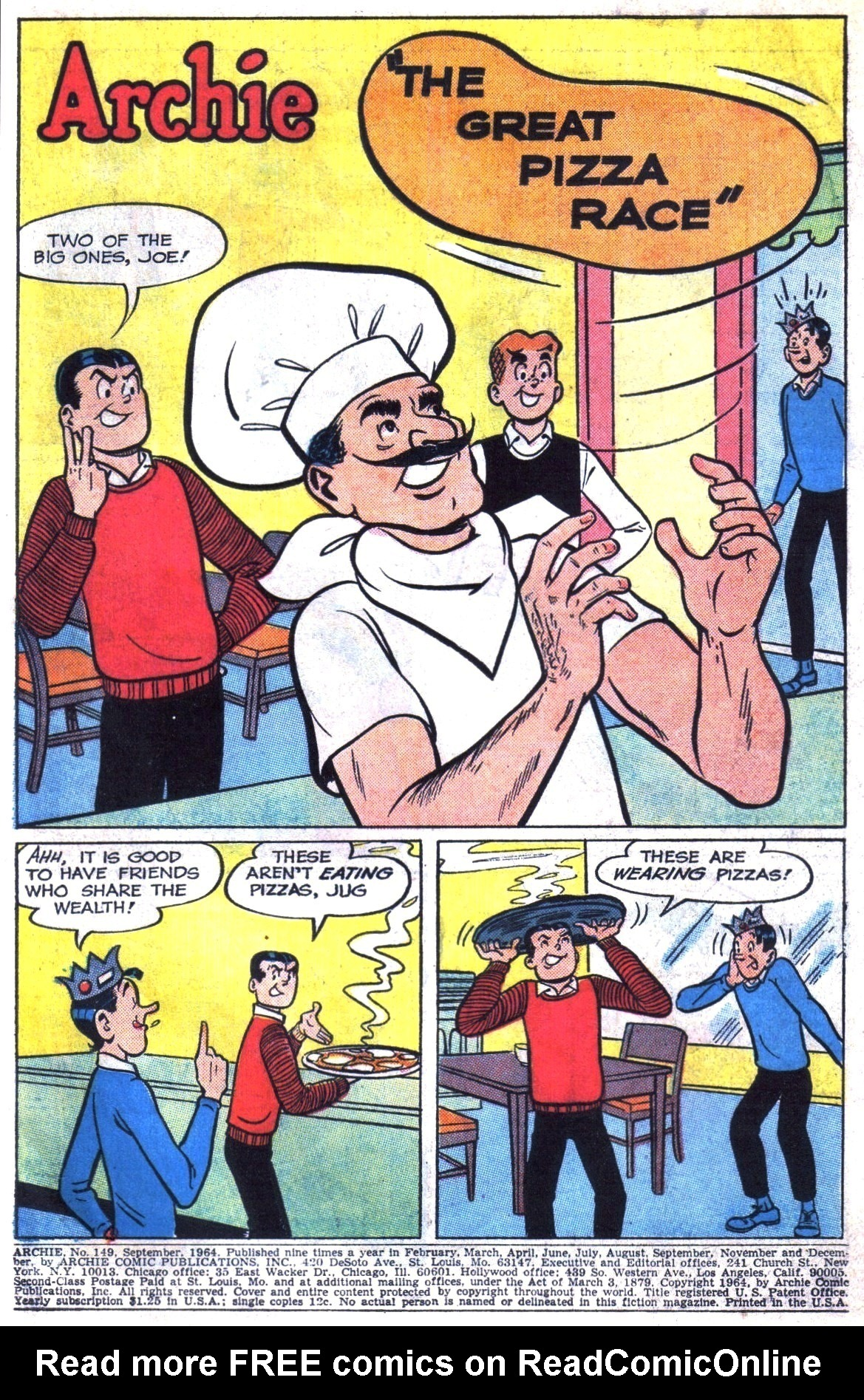 Read online Archie (1960) comic -  Issue #149 - 3