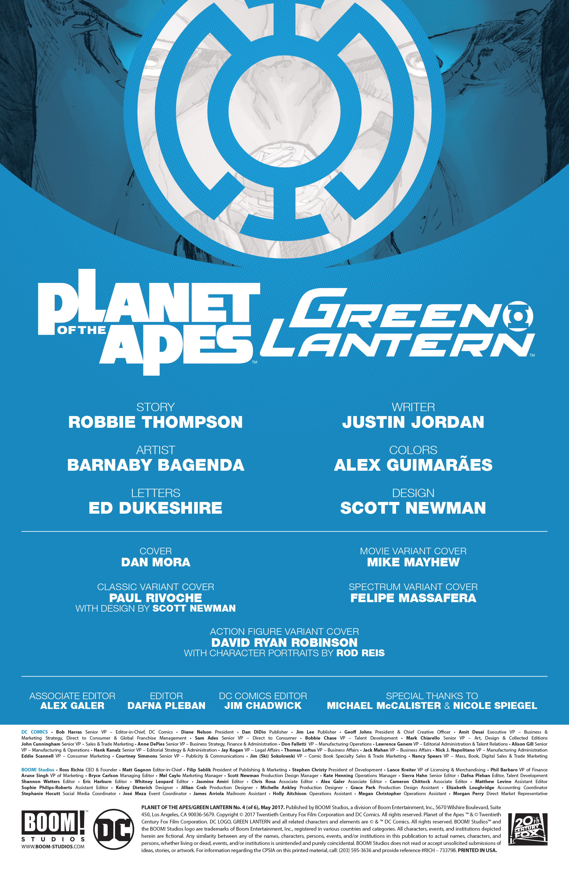 Read online Planet of the Apes/Green Lantern comic -  Issue #4 - 2