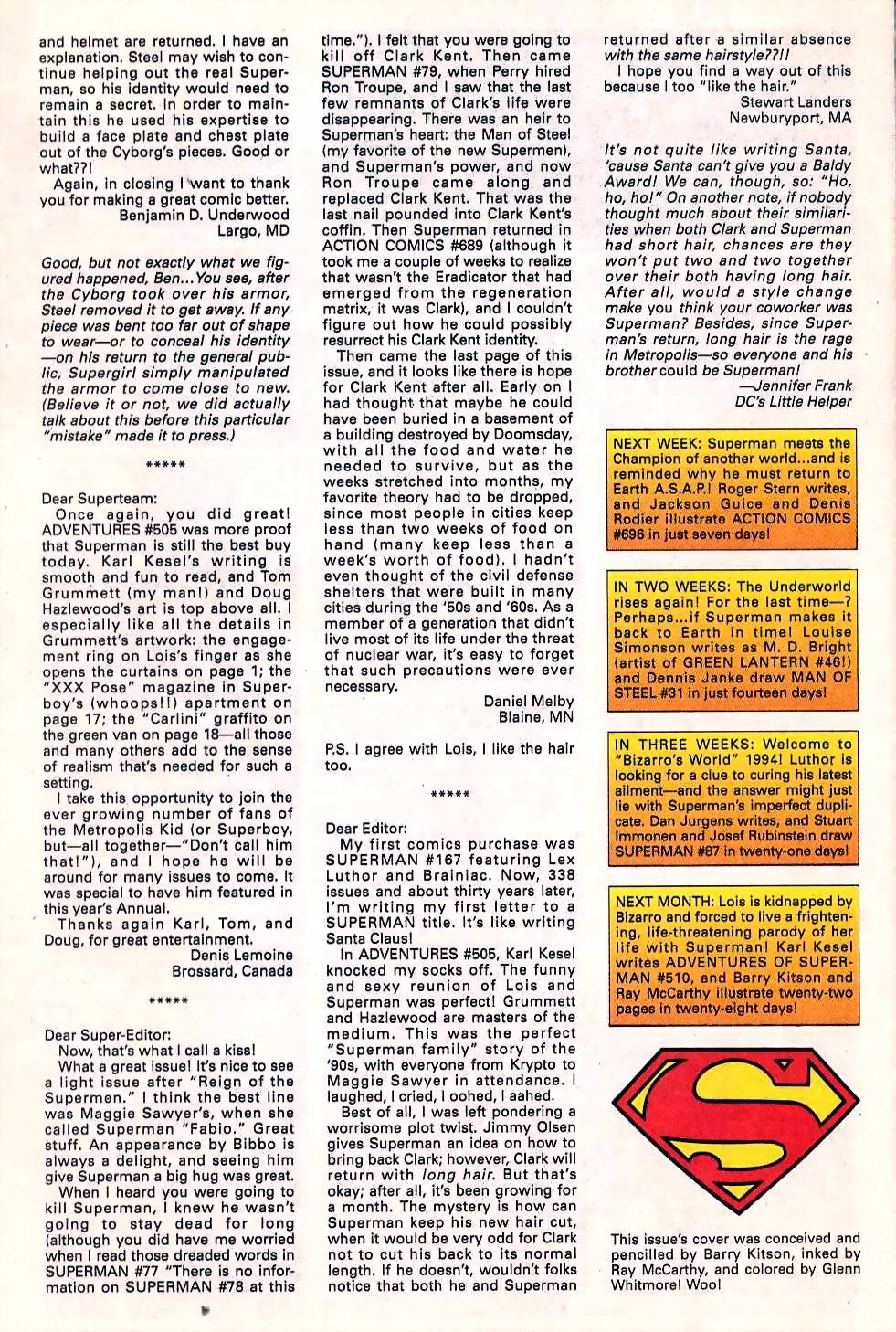 Read online Adventures of Superman (1987) comic -  Issue #509 - 26