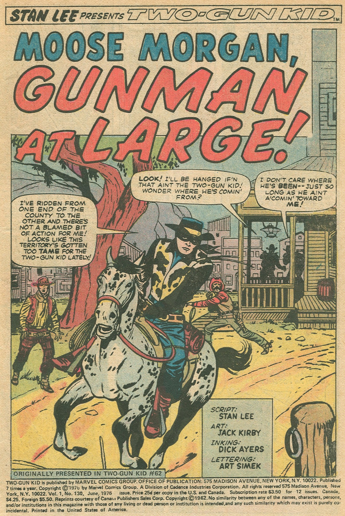 Read online Two-Gun Kid comic -  Issue #130 - 3