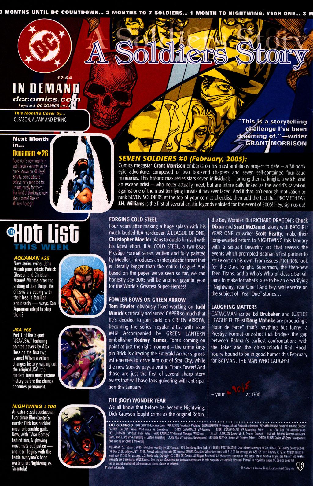 Read online Aquaman (2003) comic -  Issue #25 - 24