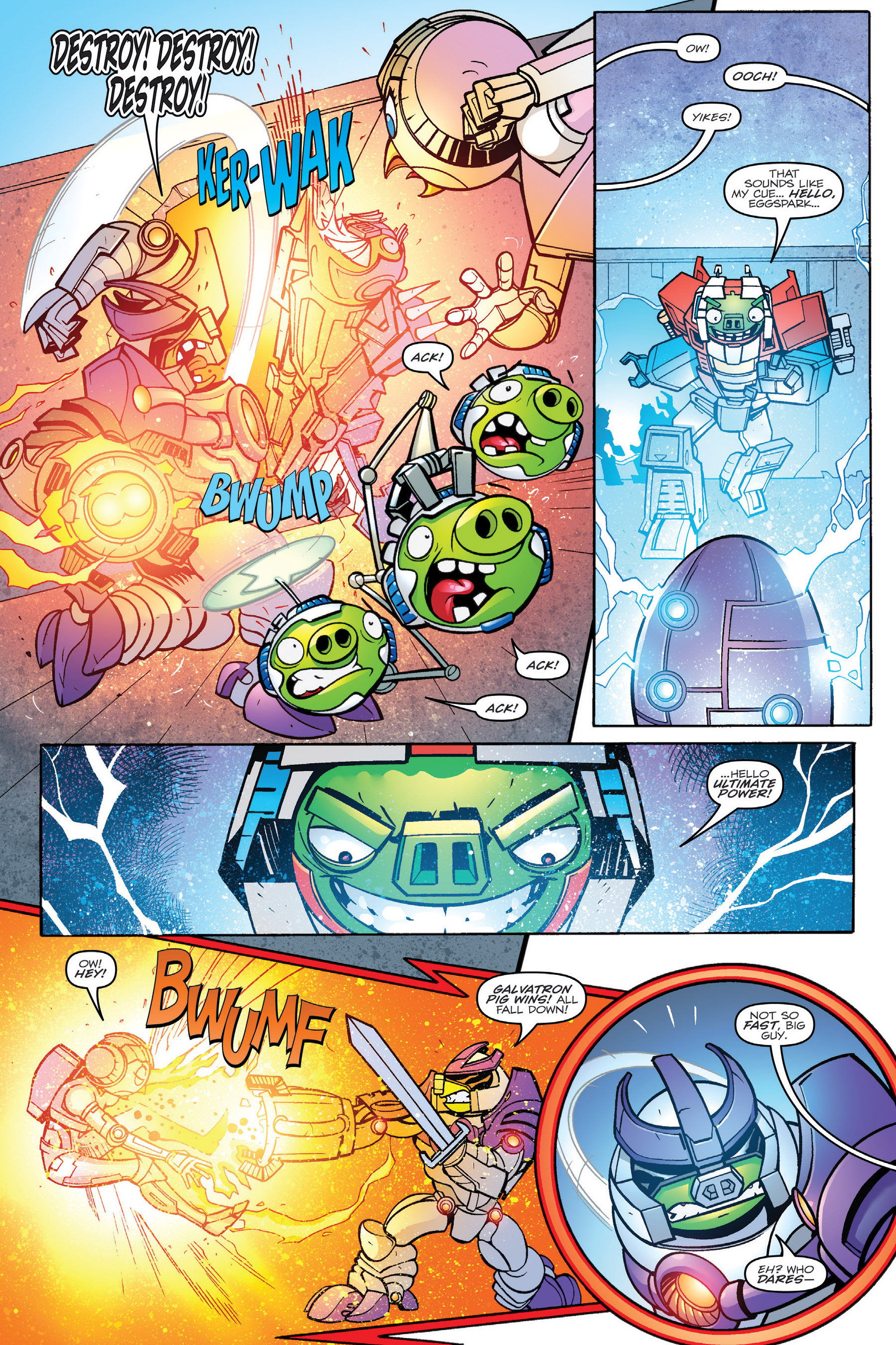 Read online Angry Birds Transformers: Age of Eggstinction comic -  Issue # Full - 83
