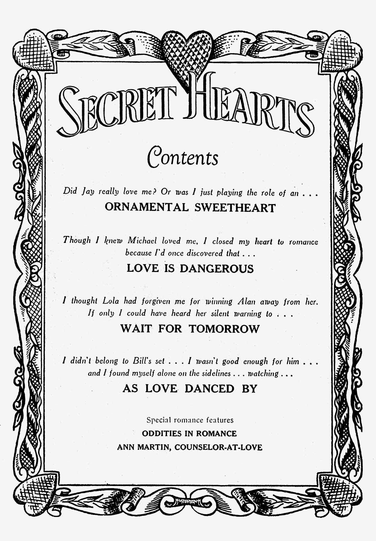Read online Secret Hearts comic -  Issue #19 - 2