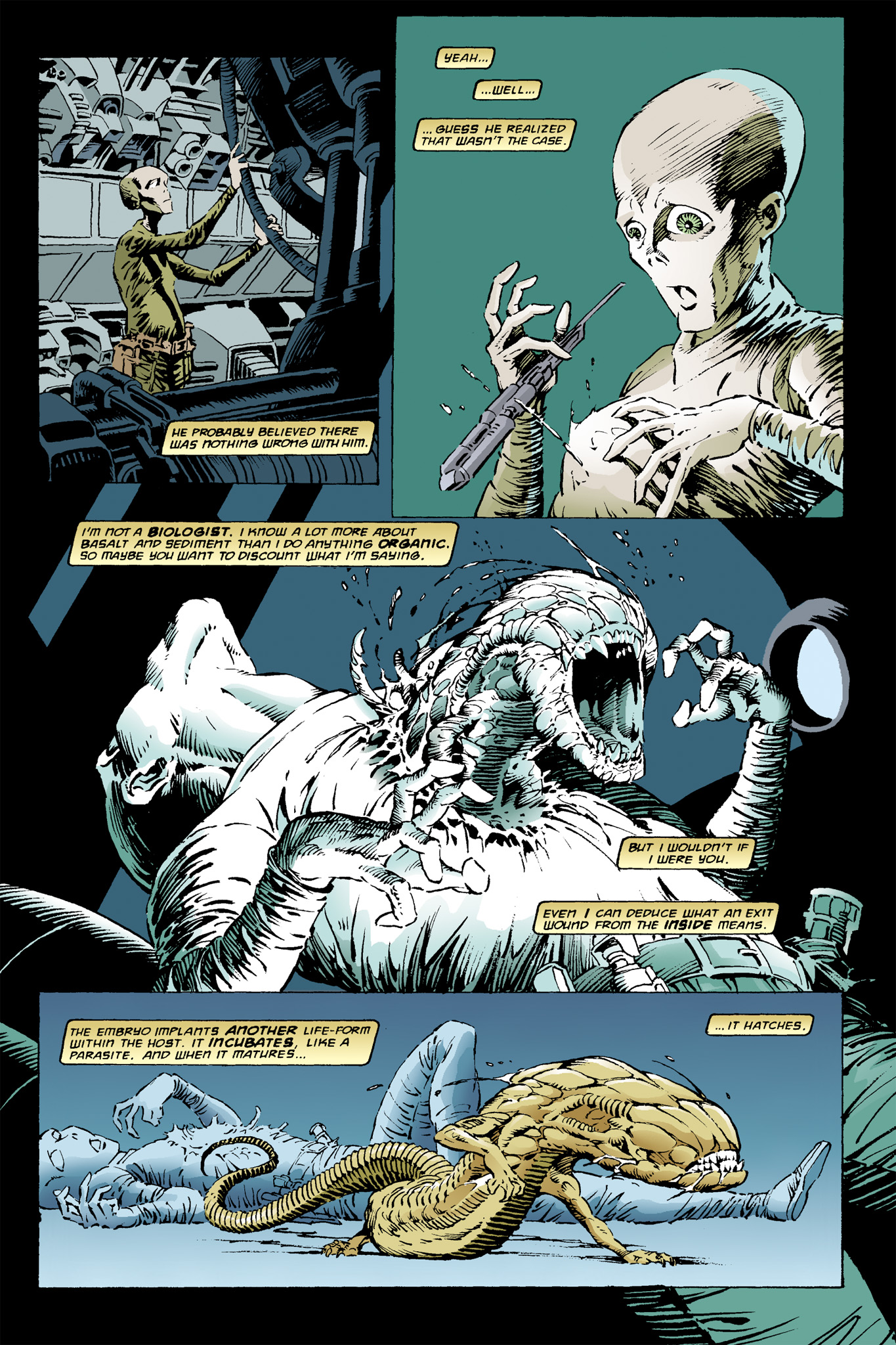 Read online Aliens: Incubation/Lucky/Taste comic -  Issue # Full - 7