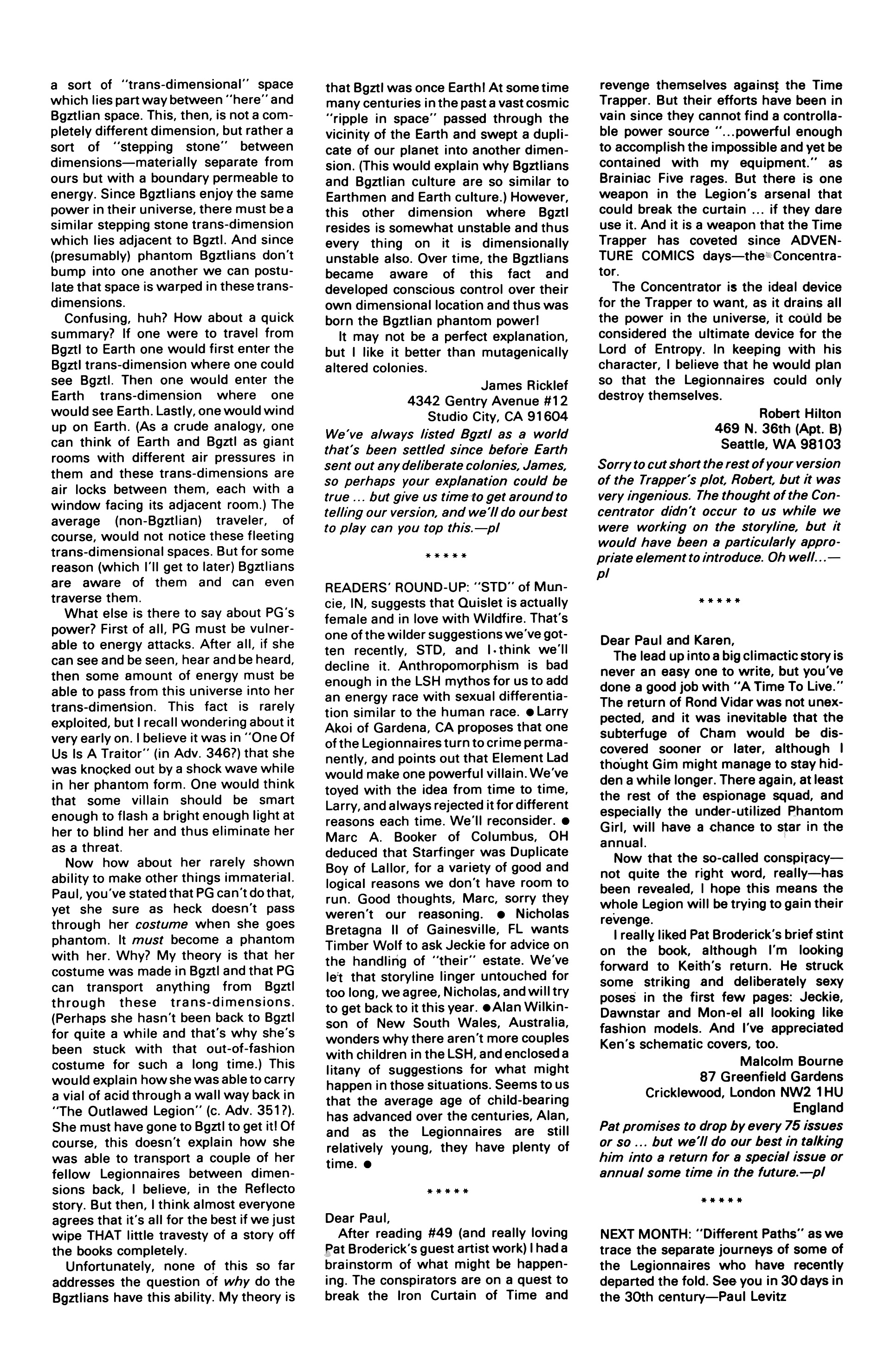 Legion of Super-Heroes (1984) 54 Page 29