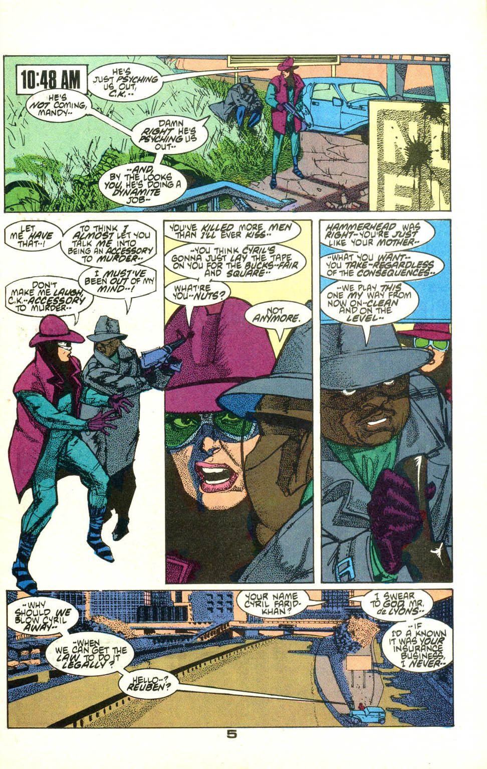 Read online American Flagg! comic -  Issue #22 - 6
