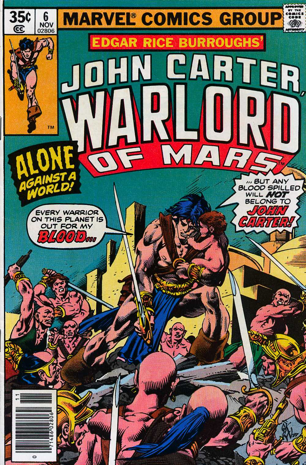 John Carter Warlord of Mars issue 6 - Page 1
