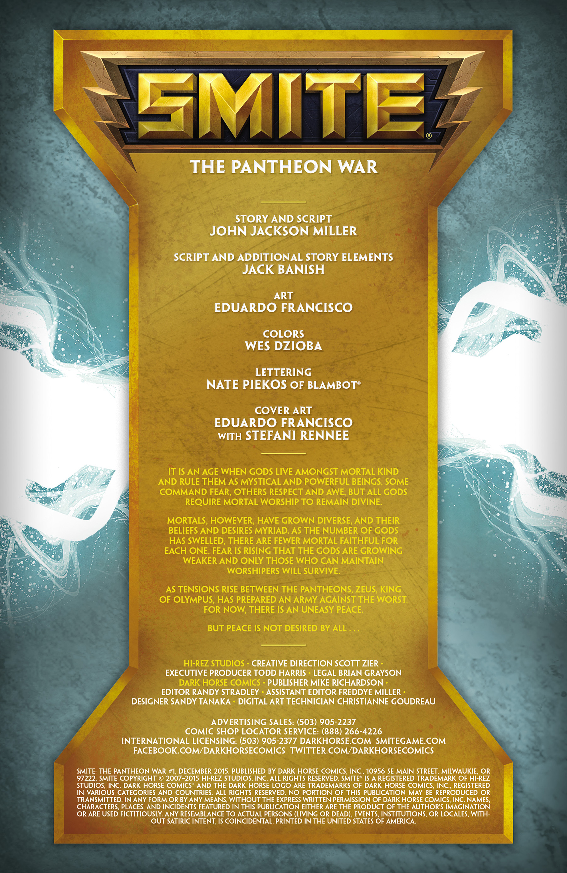 Read online SMITE: The Pantheon War comic -  Issue #1 - 2