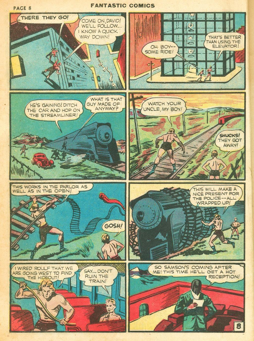 Read online Fantastic Comics comic -  Issue #12 - 10
