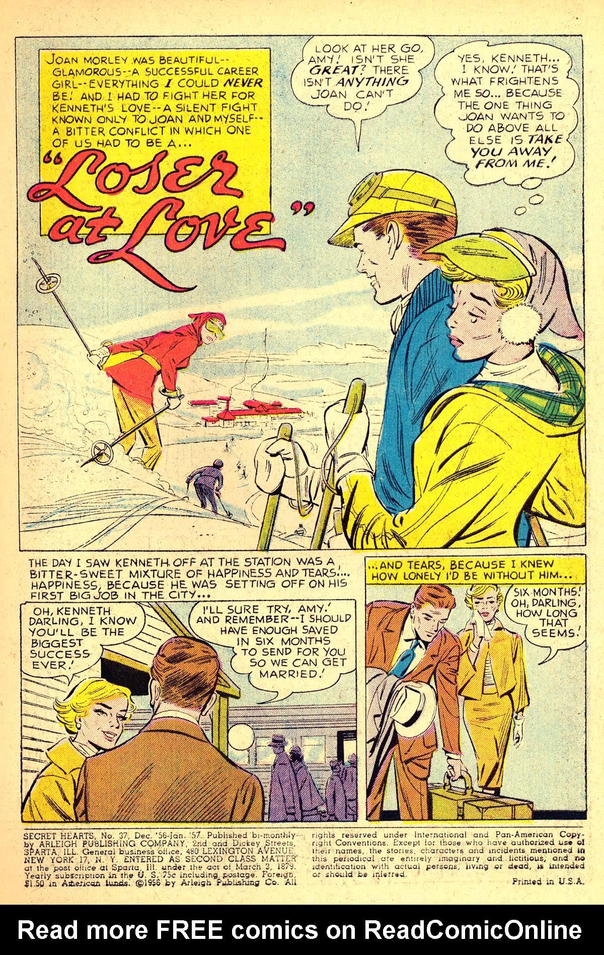 Read online Secret Hearts comic -  Issue #37 - 3