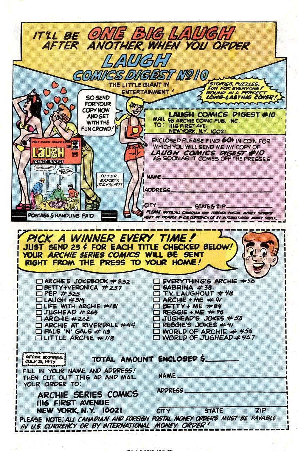 Read online Archie (1960) comic -  Issue #261 - 27