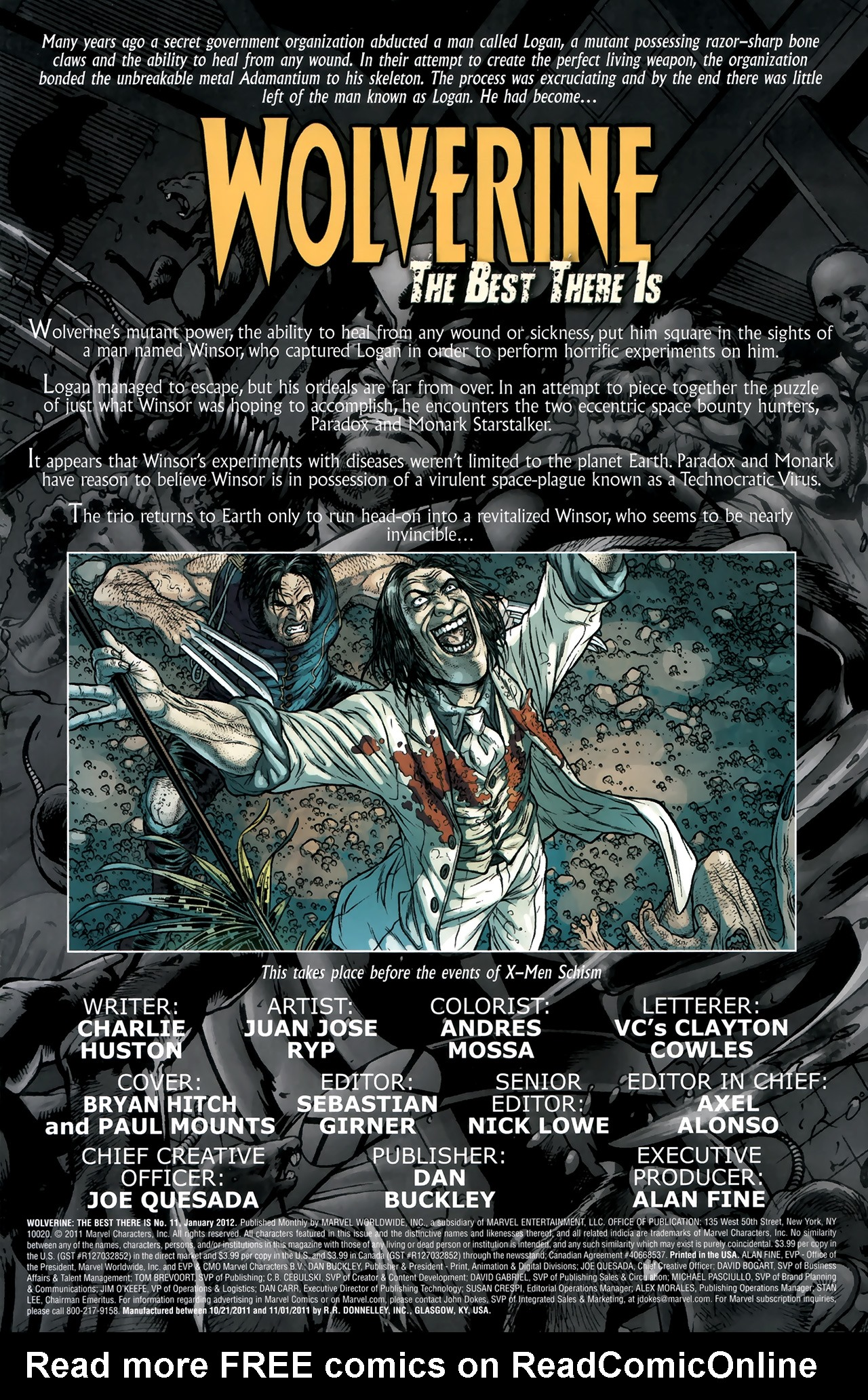 Read online Wolverine: The Best There Is comic -  Issue #11 - 2