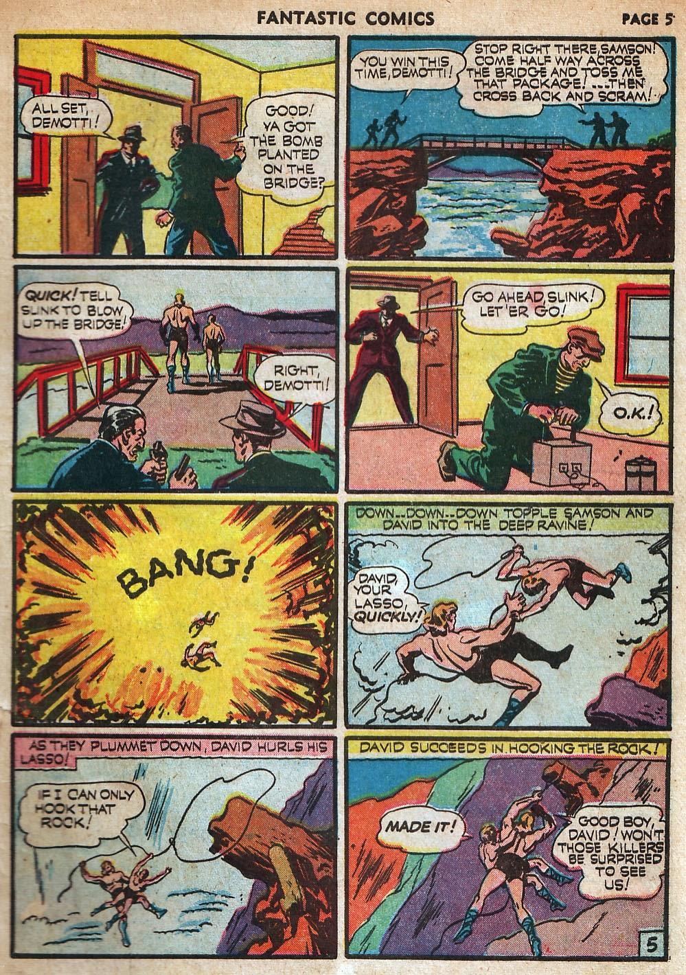 Read online Fantastic Comics comic -  Issue #18 - 7