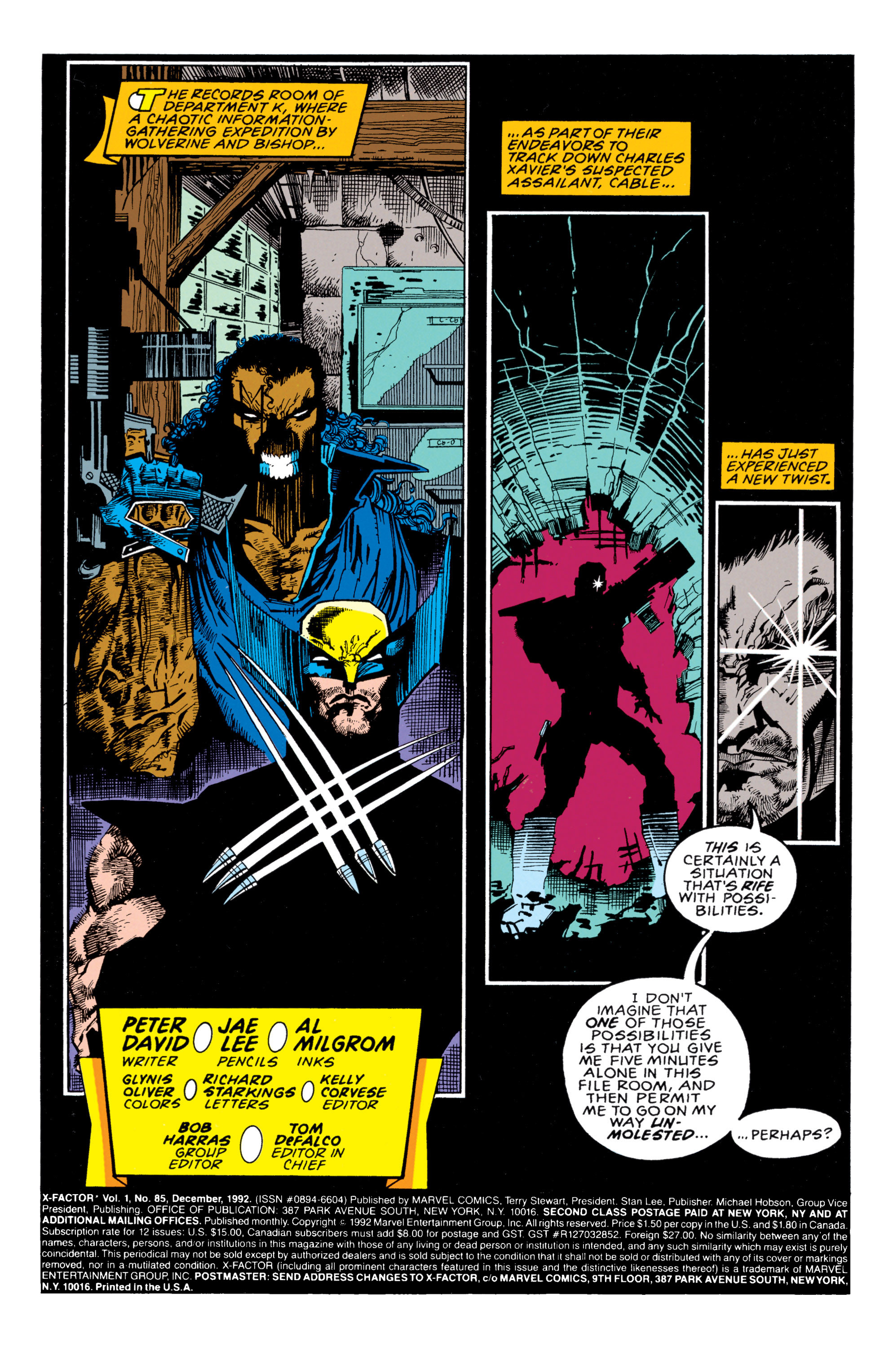 Read online X-Factor (1986) comic -  Issue #85 - 2