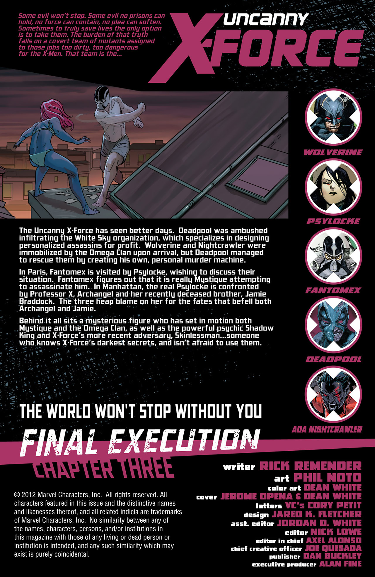 Read online Uncanny X-Force (2010) comic -  Issue #27 - 2