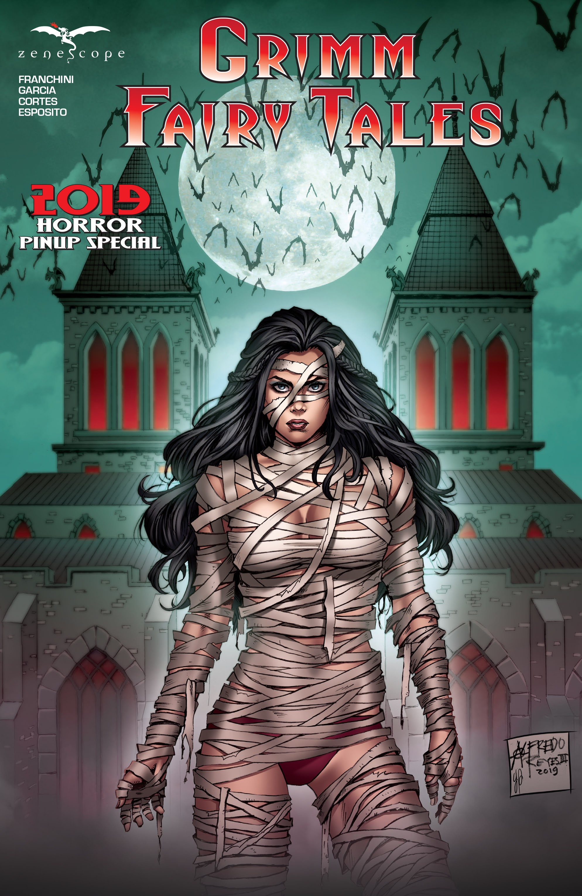 Grimm Fairy Tales 2019 Horror Pinup Special Full Page 1