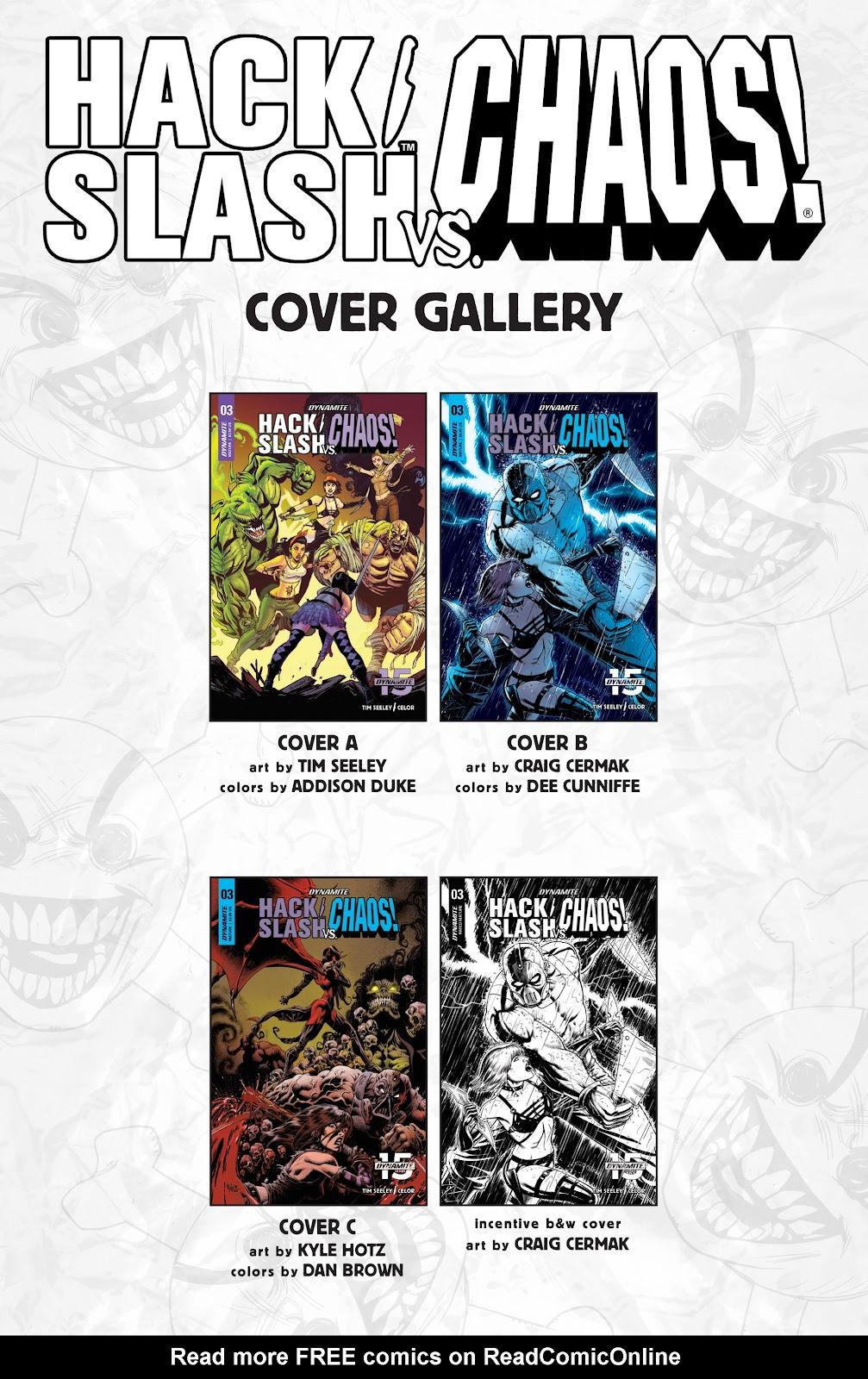 Read online Hack/Slash vs. Chaos comic -  Issue #3 - 27