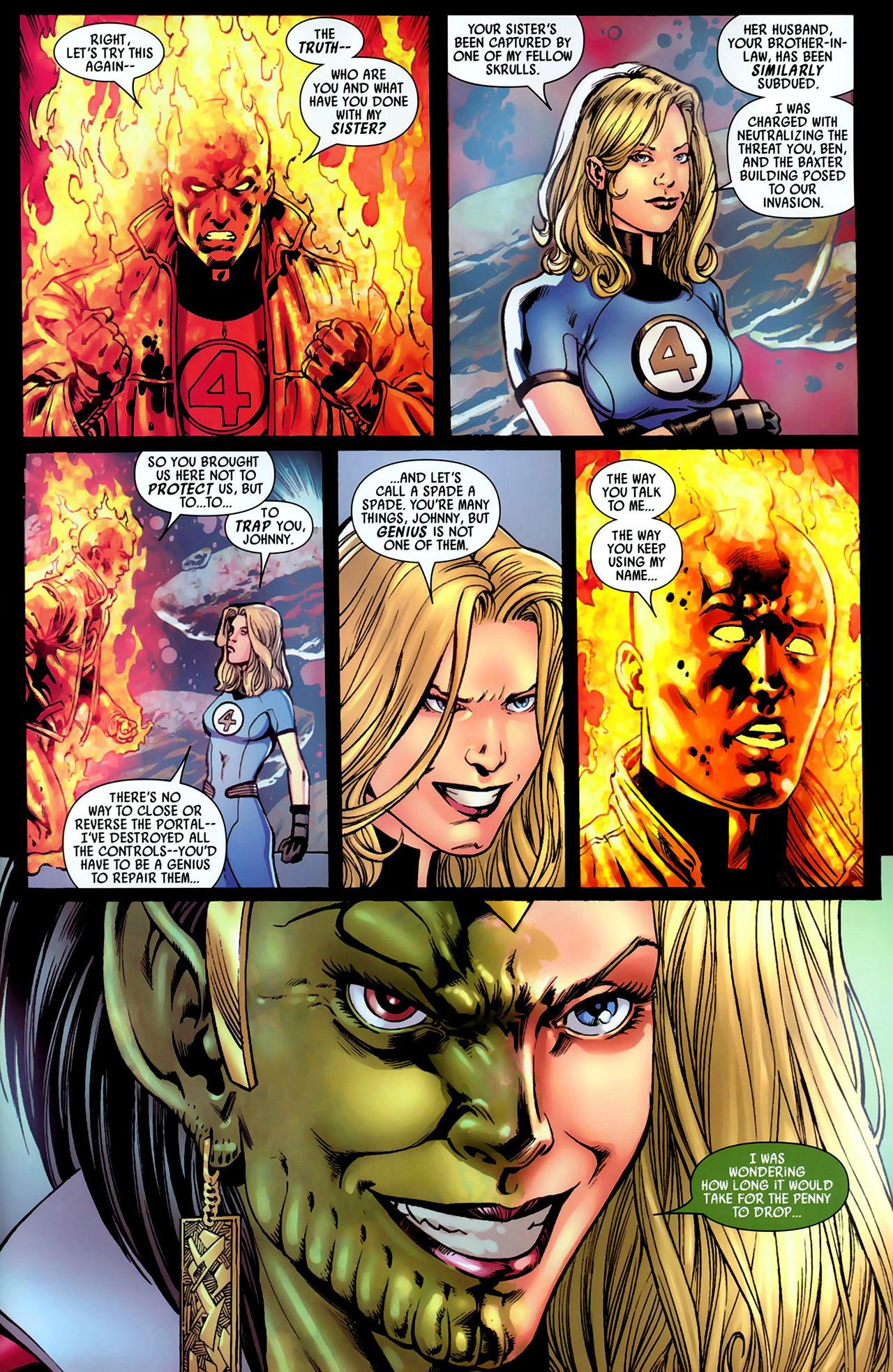 Read online Secret Invasion: Fantastic Four comic -  Issue #1 - 22