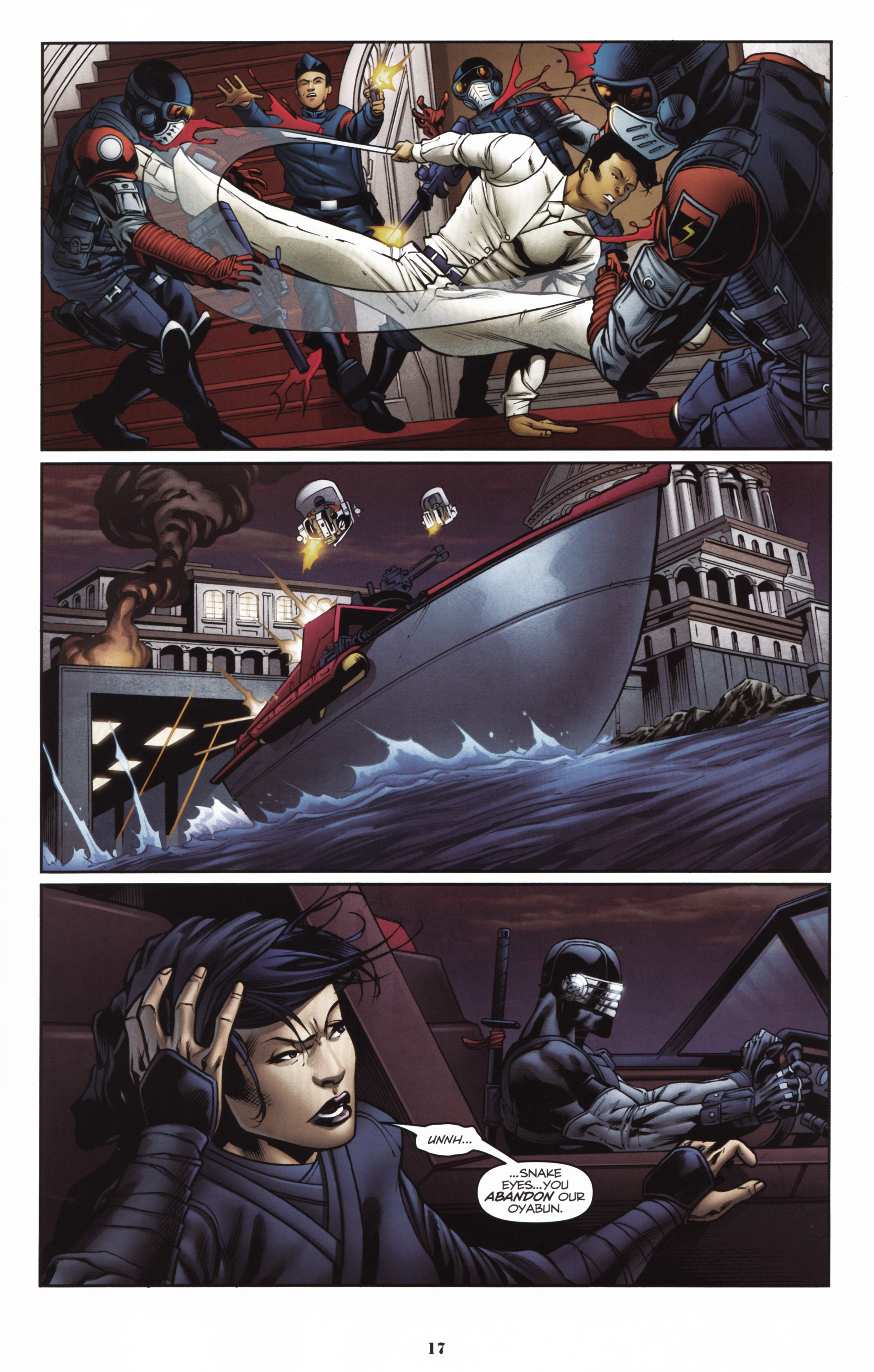 Read online Snake Eyes and Storm Shadow comic -  Issue #16 - 19