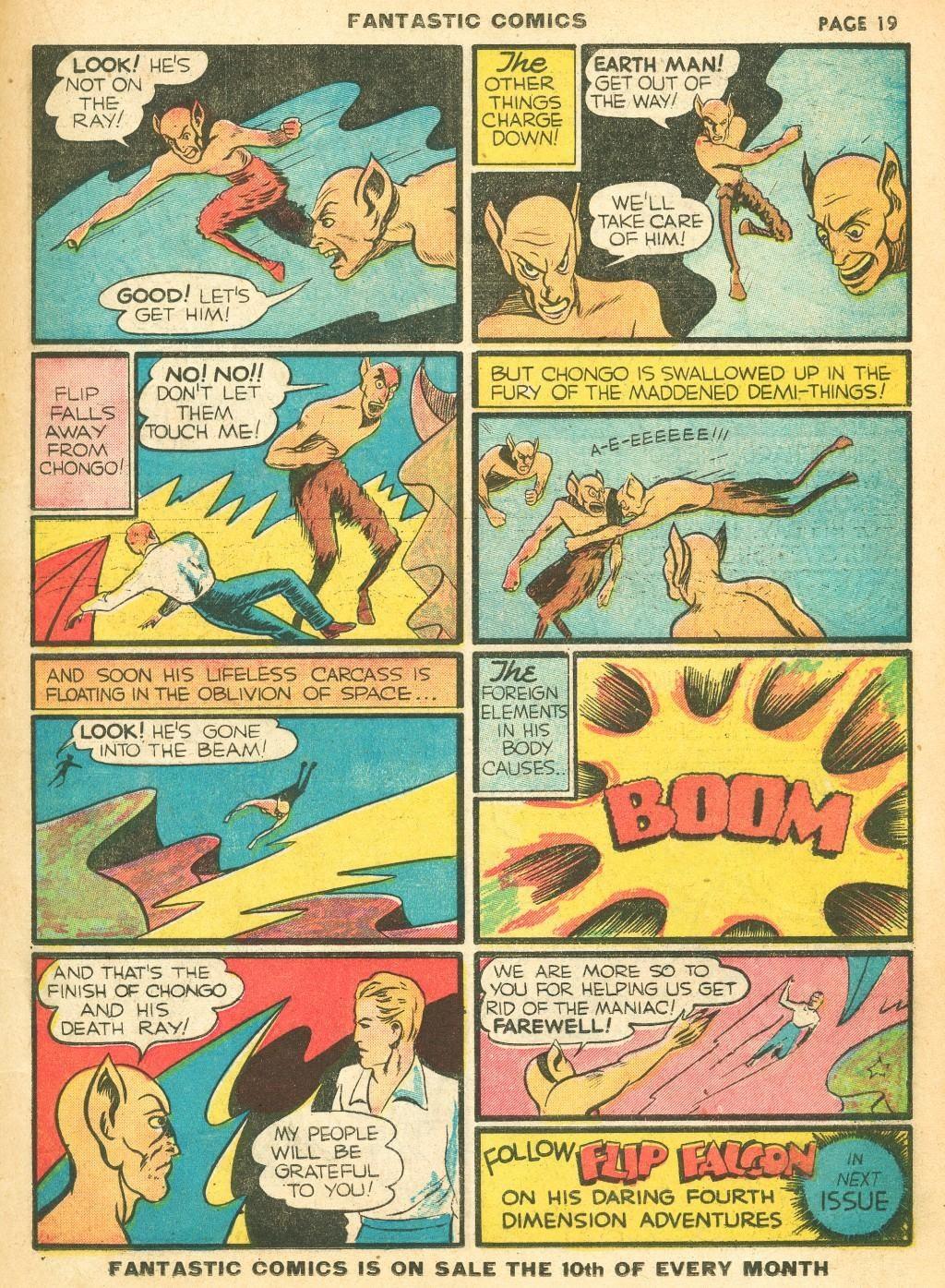 Read online Fantastic Comics comic -  Issue #12 - 21