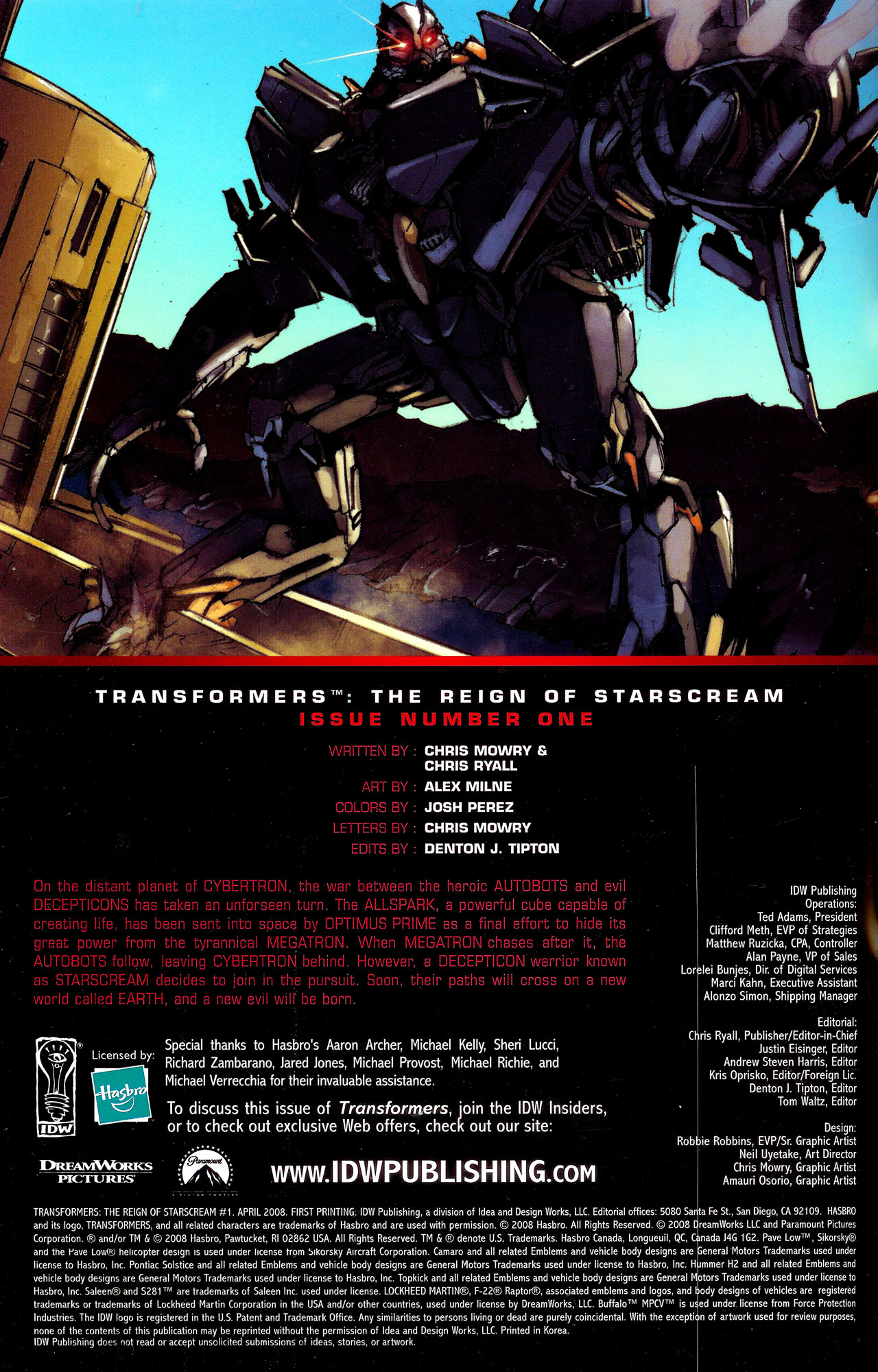 Read online Transformers: The Reign of Starscream comic -  Issue #1 - 3