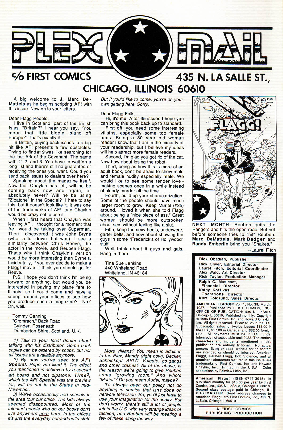 Read online American Flagg! comic -  Issue #38 - 2