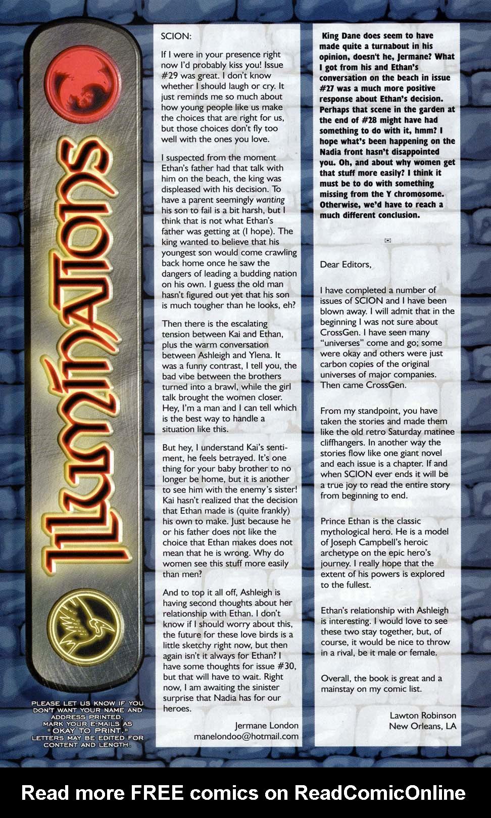 Read online Scion comic -  Issue #32 - 25