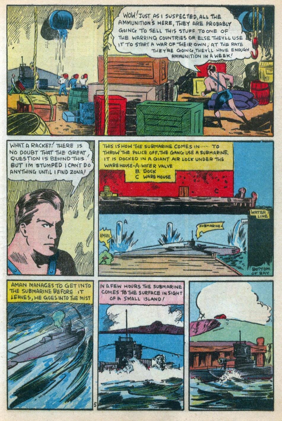 Read online Amazing Man Comics comic -  Issue #15 - 6