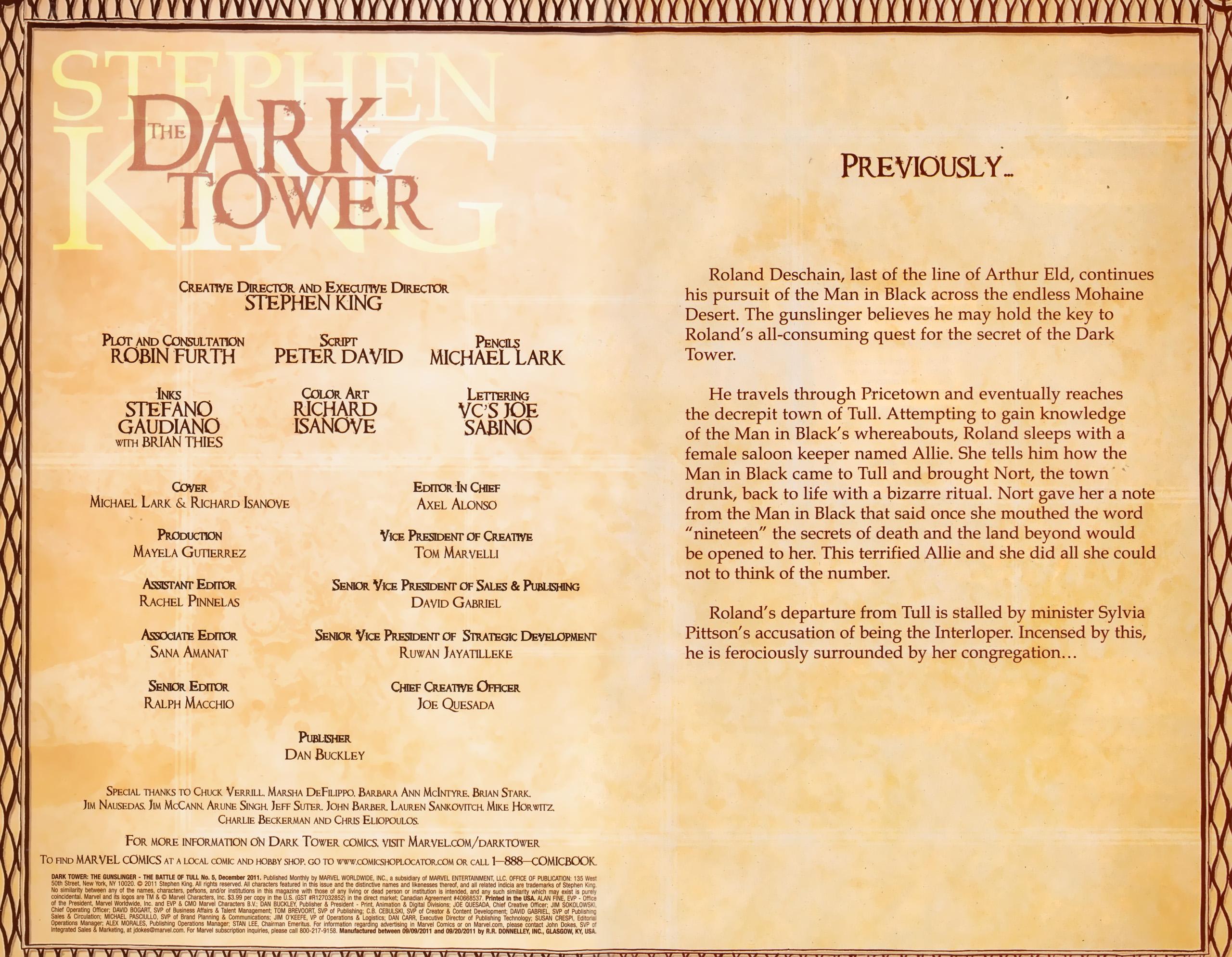 Read online Dark Tower: The Gunslinger - The Battle of Tull comic -  Issue #5 - 2