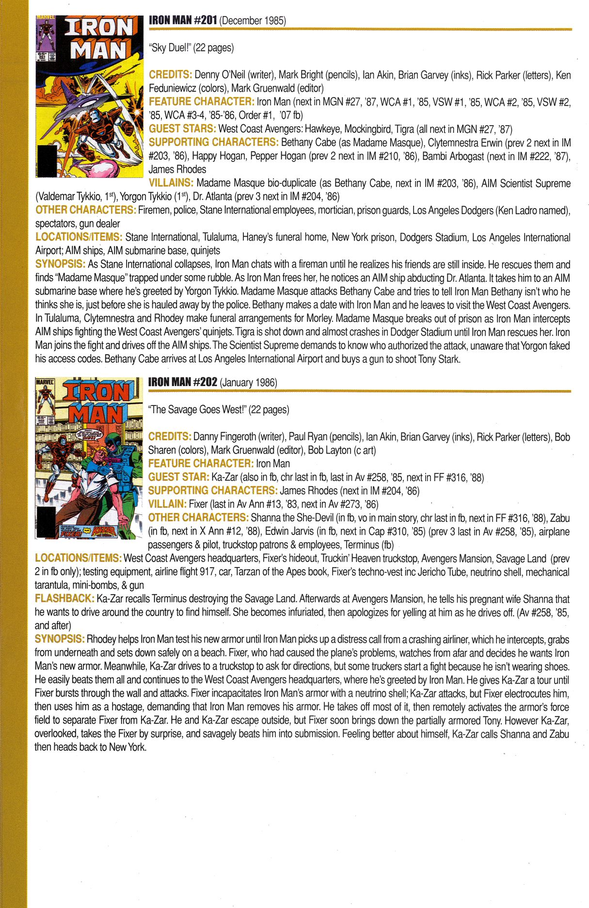 Read online Official Index to the Marvel Universe comic -  Issue #6 - 38