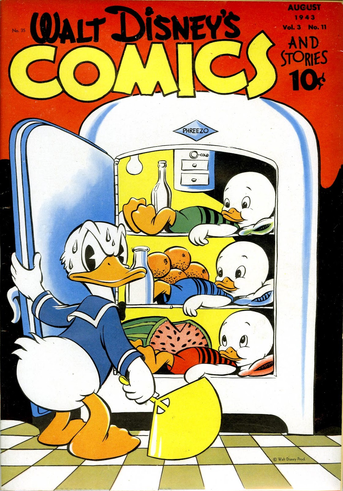 Walt Disney's Comics and Stories issue 35 - Page 1