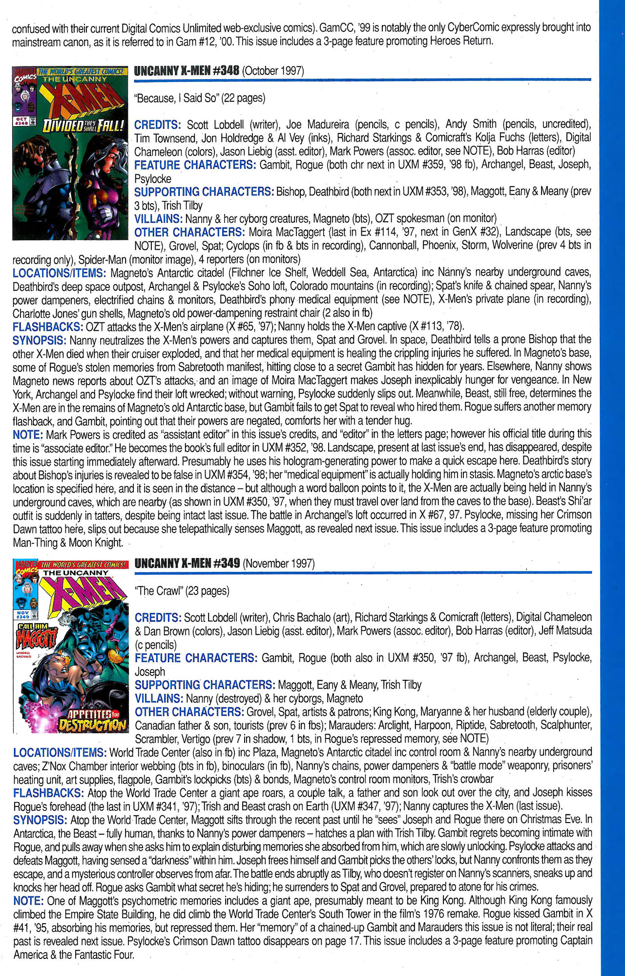 Read online Official Index to the Marvel Universe comic -  Issue #9 - 51