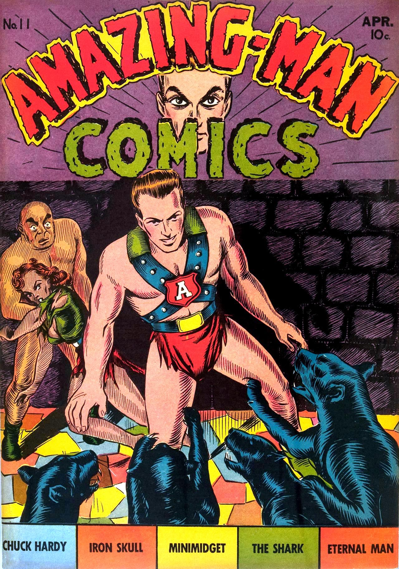 Read online Amazing Man Comics comic -  Issue #11 - 1