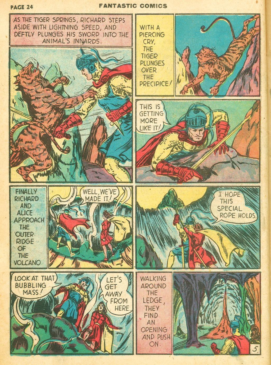 Read online Fantastic Comics comic -  Issue #12 - 26
