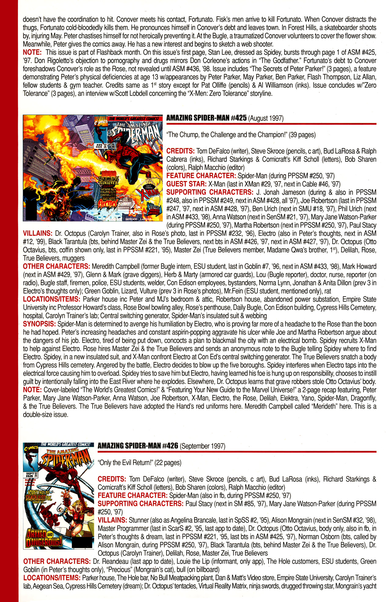 Read online Official Index to the Marvel Universe comic -  Issue #10 - 18