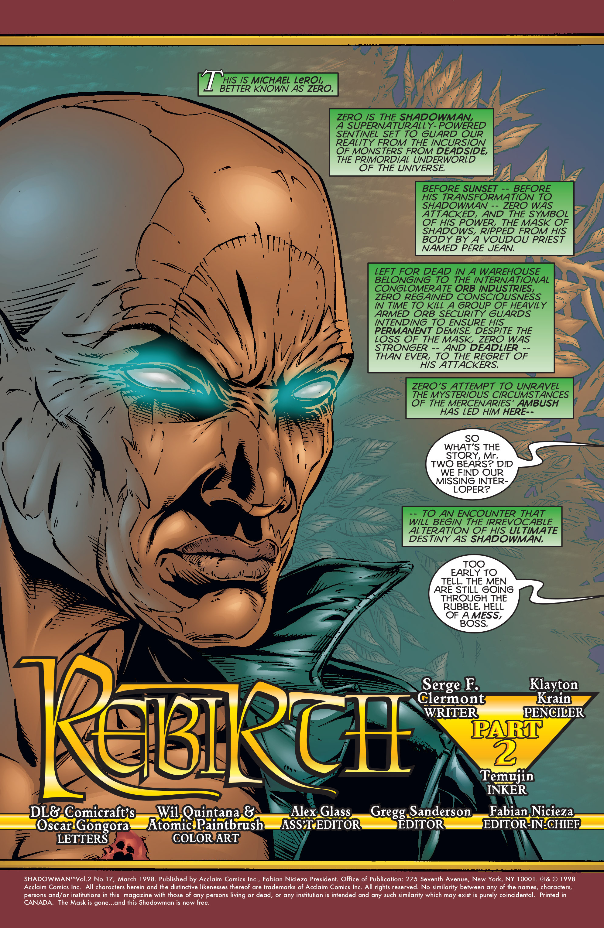 Read online Shadowman (1997) comic -  Issue #17 - 2