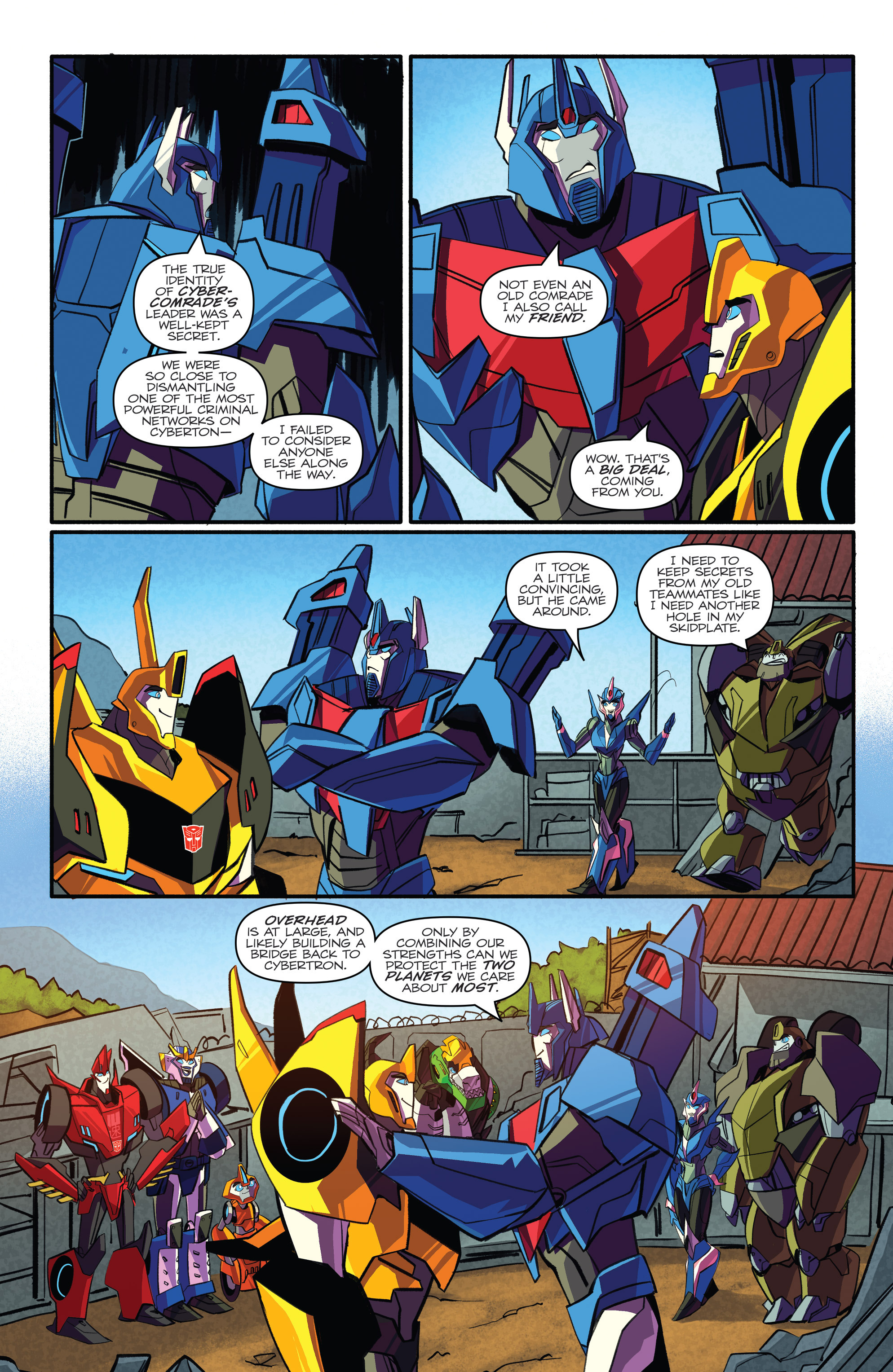 Read online Transformers: Robots In Disguise (2015) comic -  Issue #4 - 7